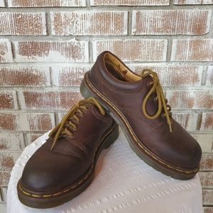 Brown Leather Oxford Style Doc Martens